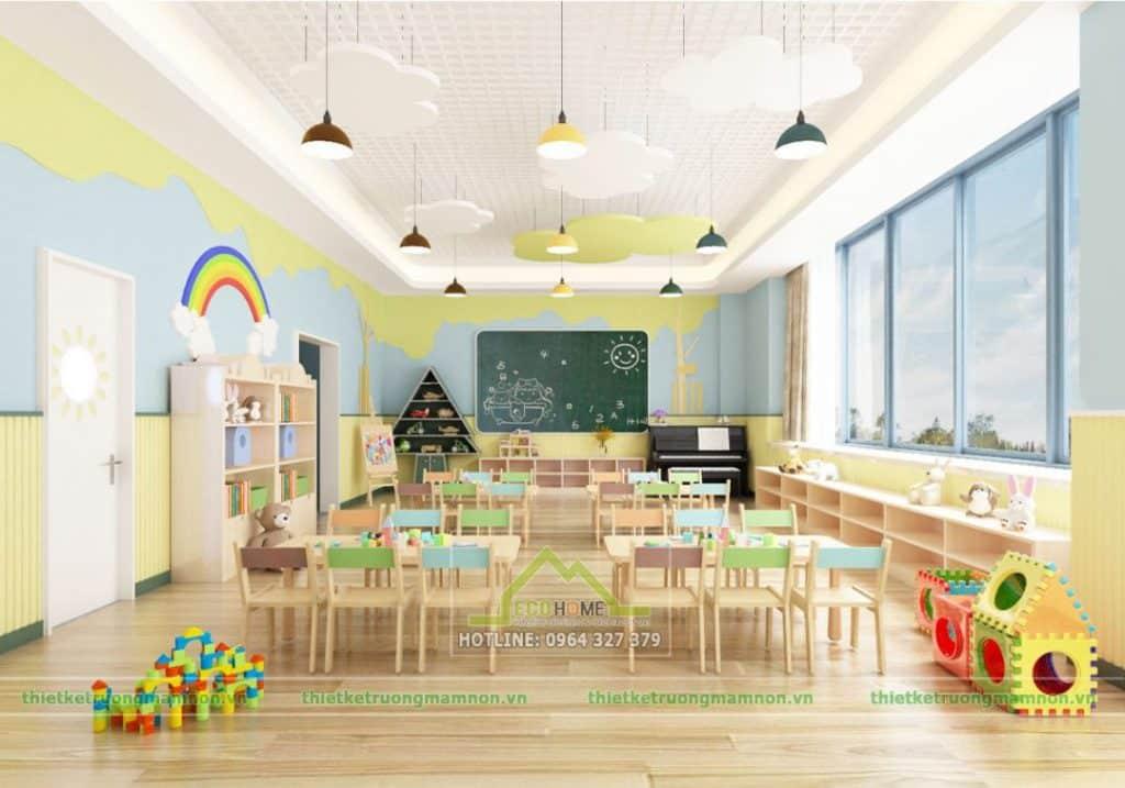 Thiết kế trường mầm non tư thục