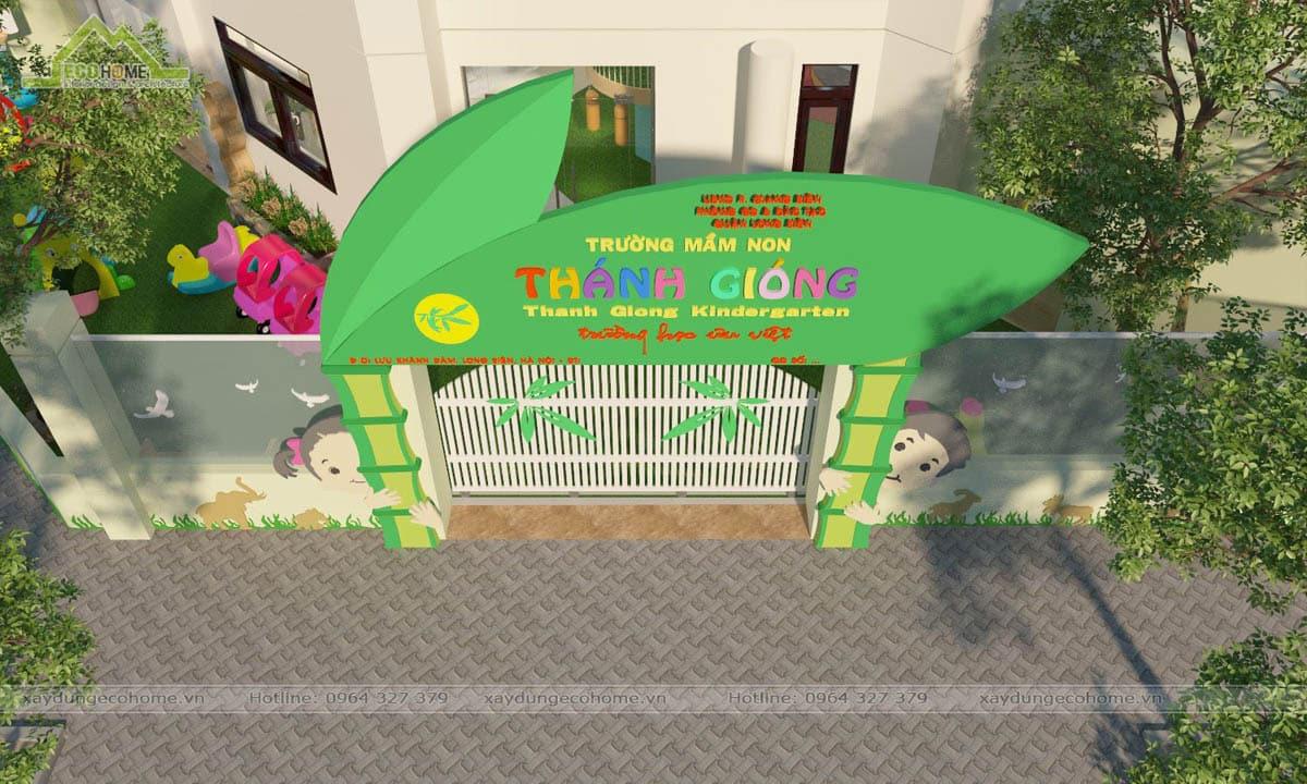 Thiết kế cổng trường mầm non