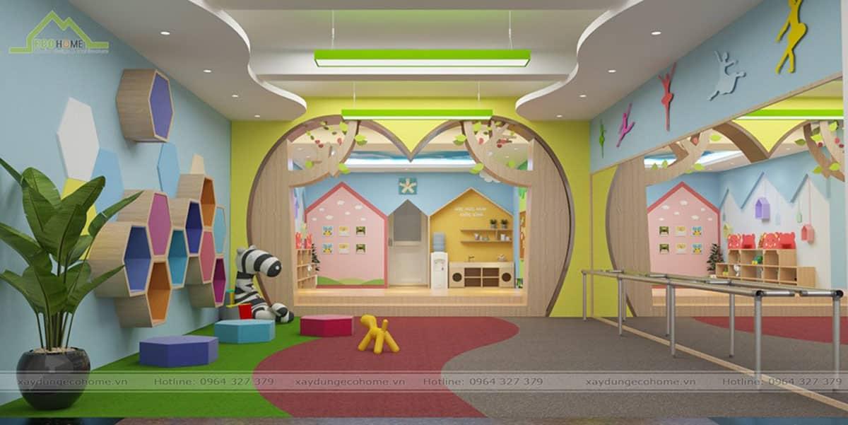 Thiết kế trường mầm non Hoa Thiên Hương
