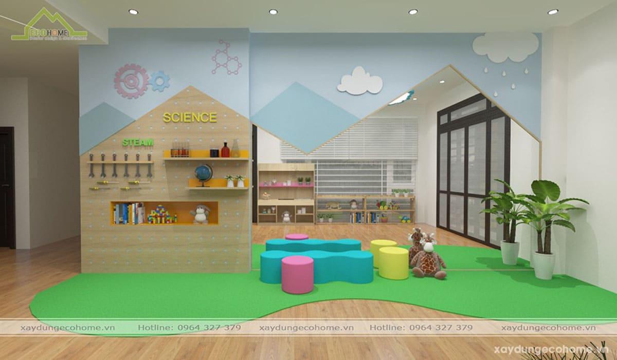 thiết kế trường mầm non Vườn Hồng