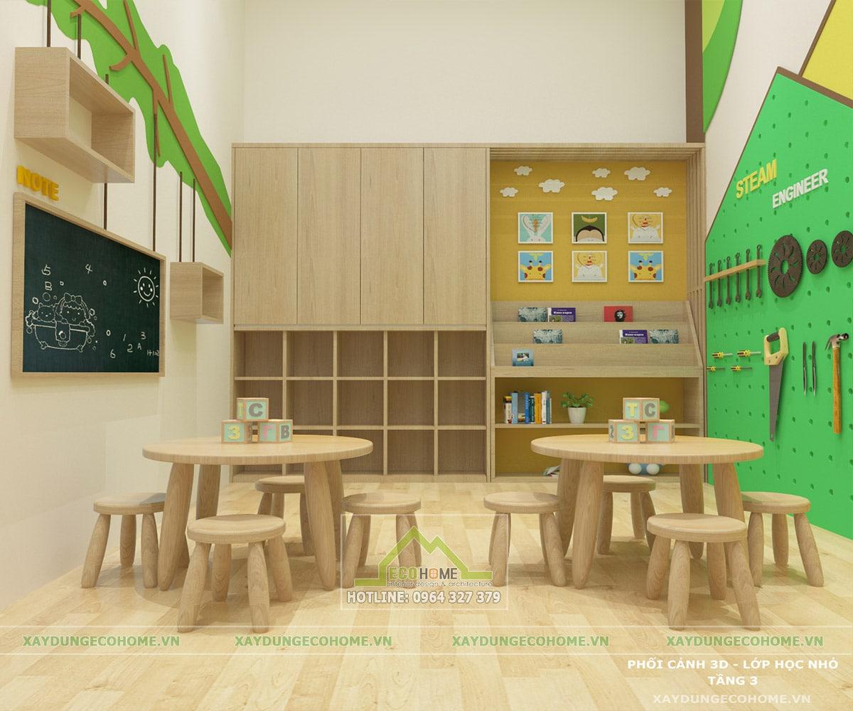 Thiết kế nội thất trường mầm non quận hai bà trưng hà nội