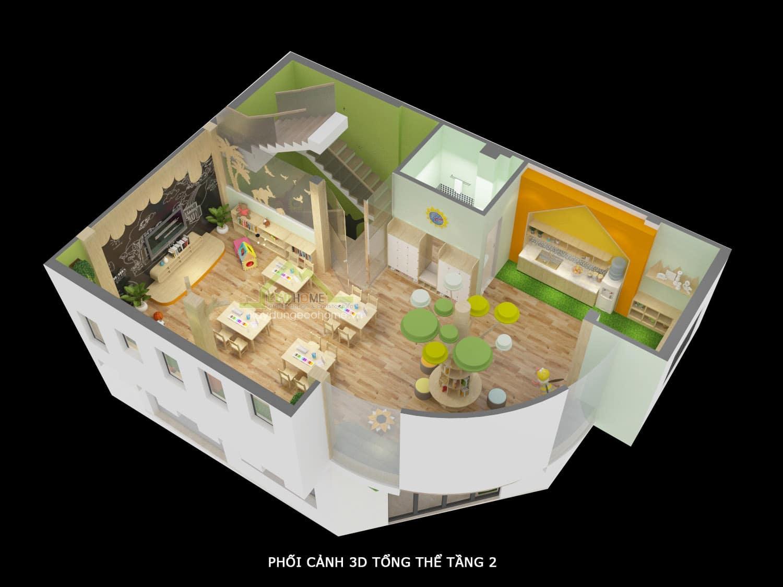 Thiết kế nội thất trường mầm non sóc sơn hà nội