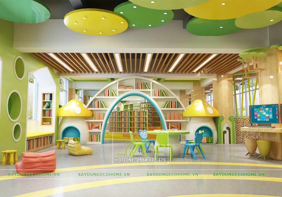 thiết kế thư viện thiếu nhi
