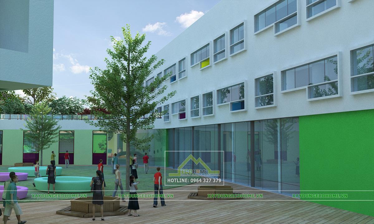thiết kế kiến trúc trường mầm non