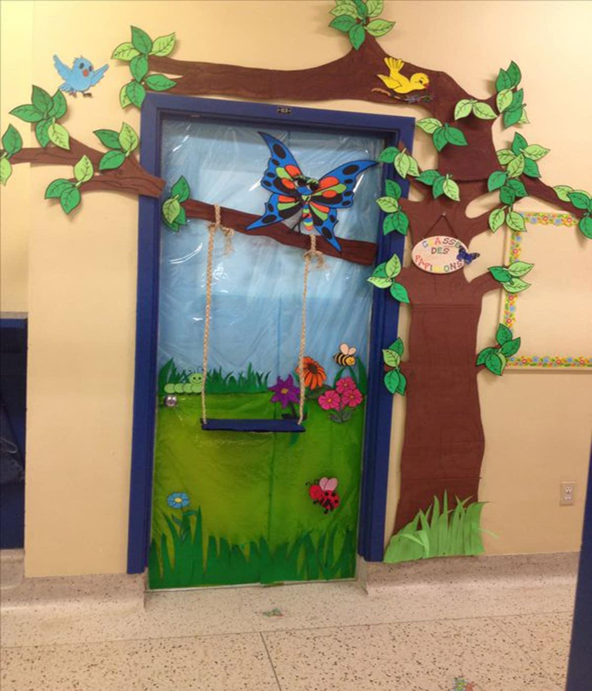 trang trí cửa lớp trường mầm non sáng tạo