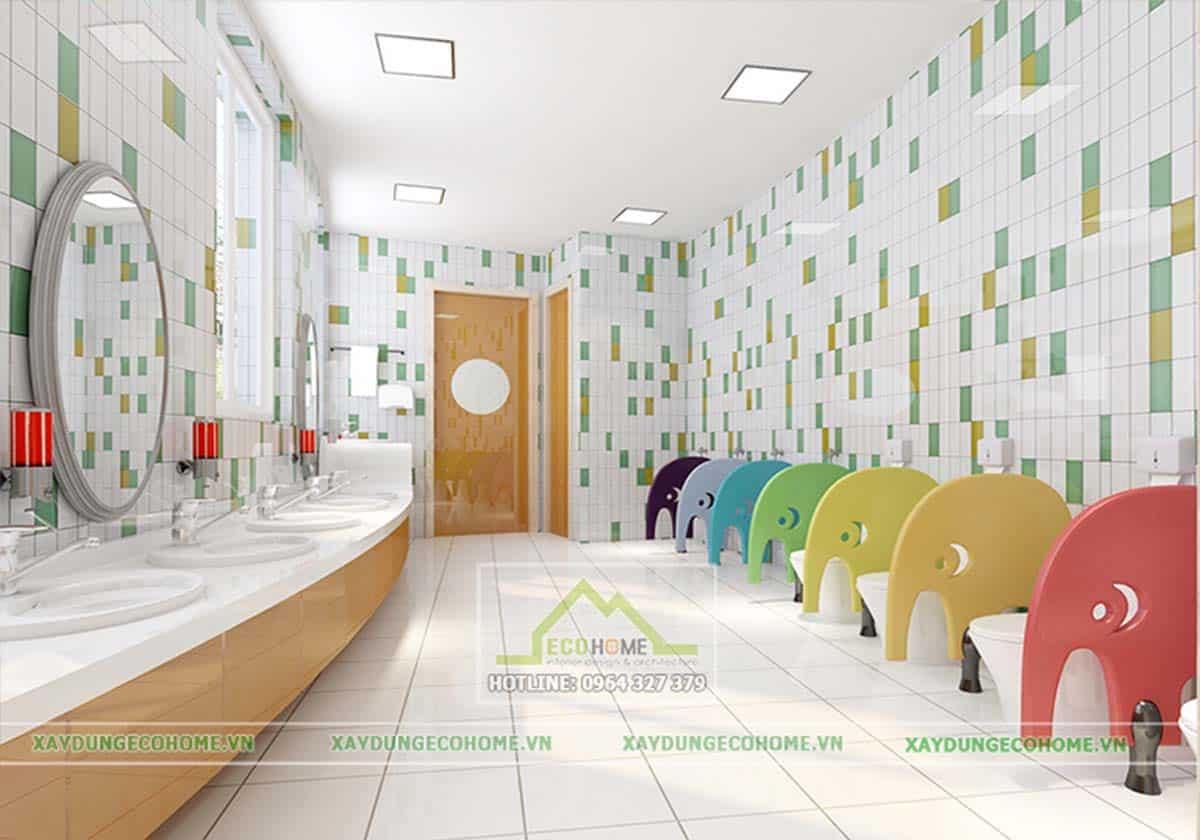 trang trí nhà vệ sinh mầm non